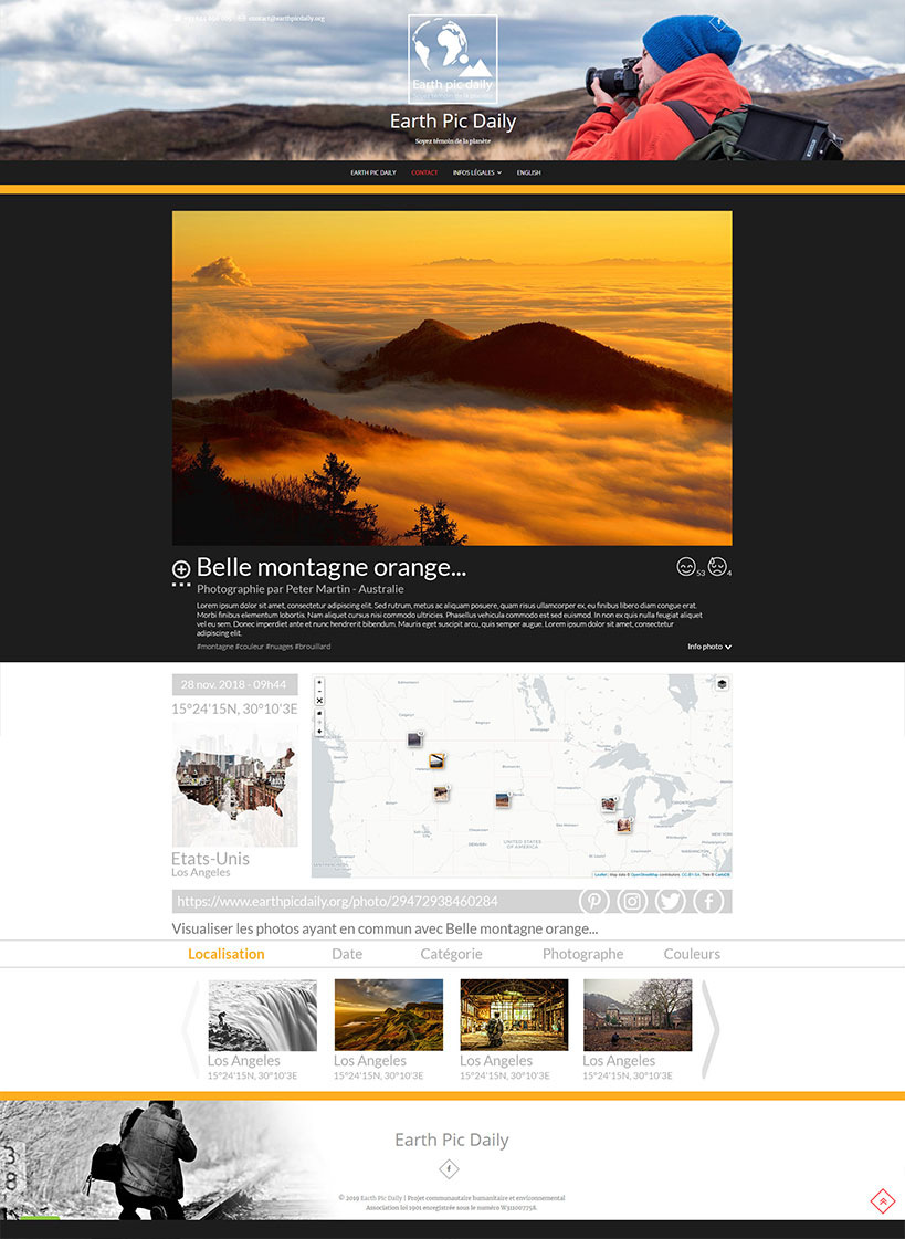 Earth Pic Daily - Exemple page Photo